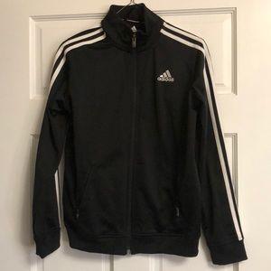 Kids unisex adidas track jacket.